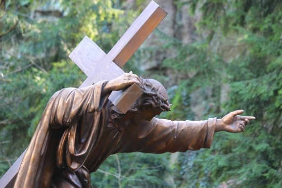 Jesus carrying the cross - Grotto, Portland, OR